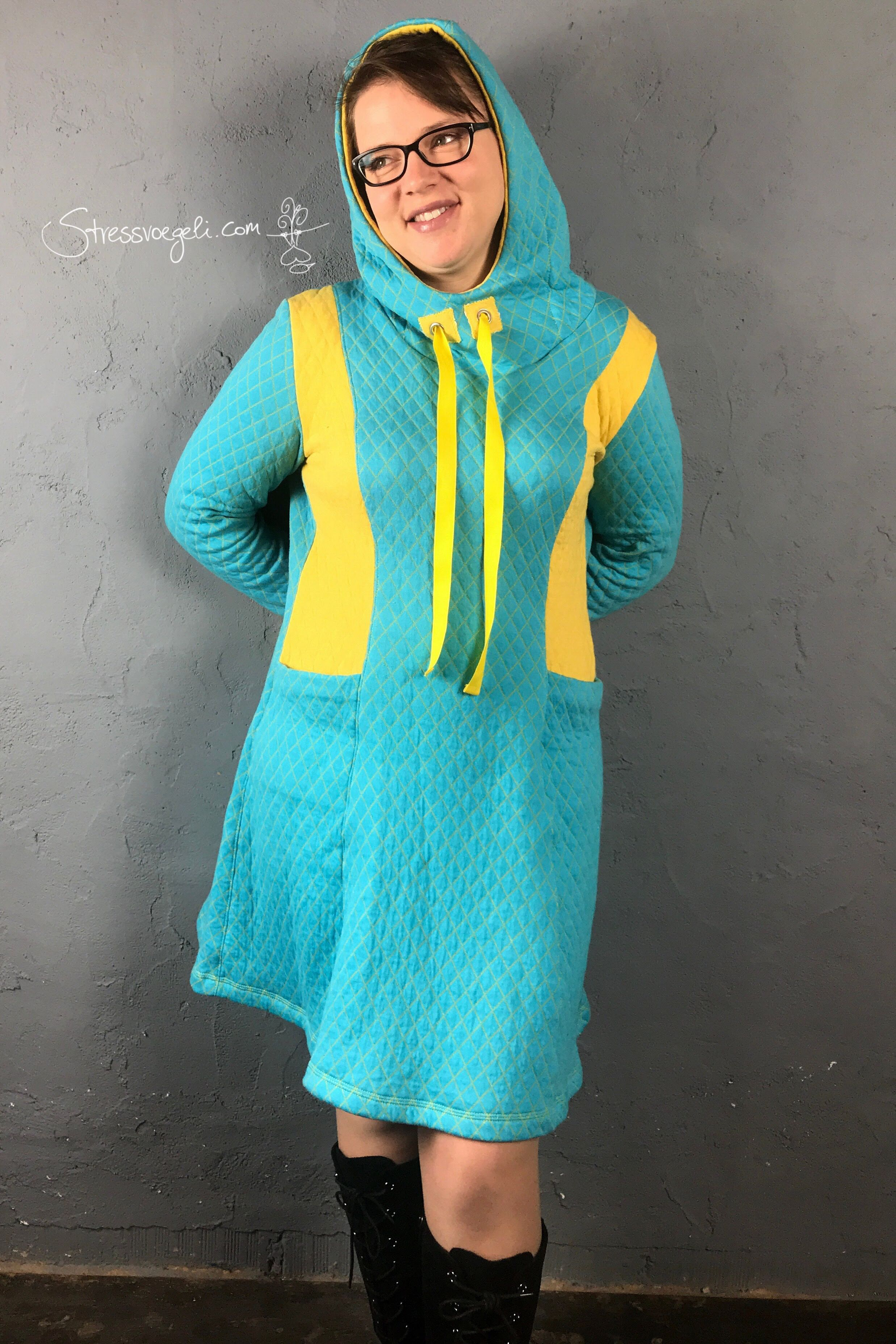 Kleid selbst genäht La Glenna Schnittgeflüster