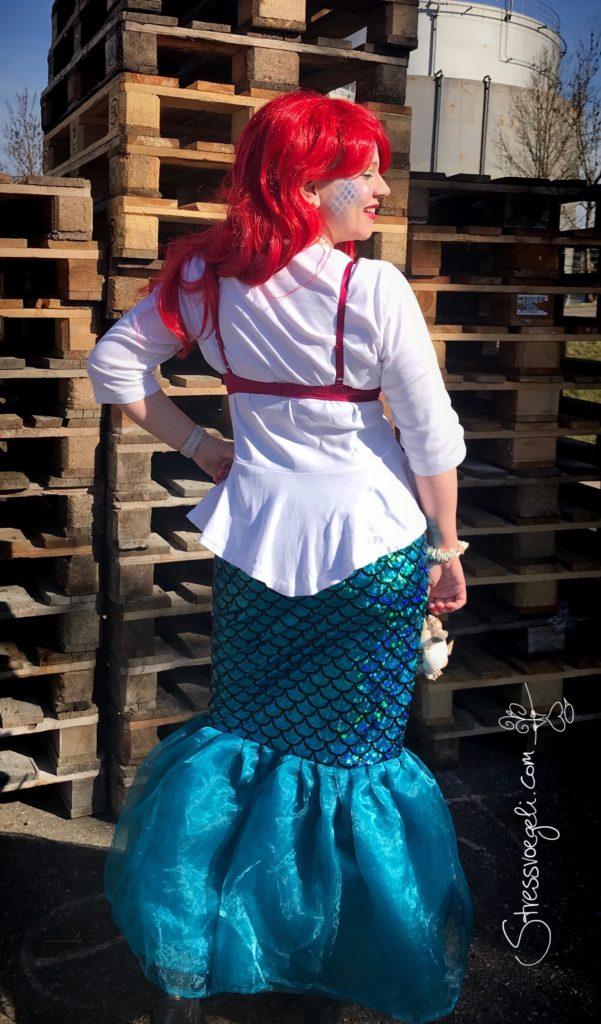 Meerjungfrau Arielle DIY Kostüm Karneval Fasching Fasnacht