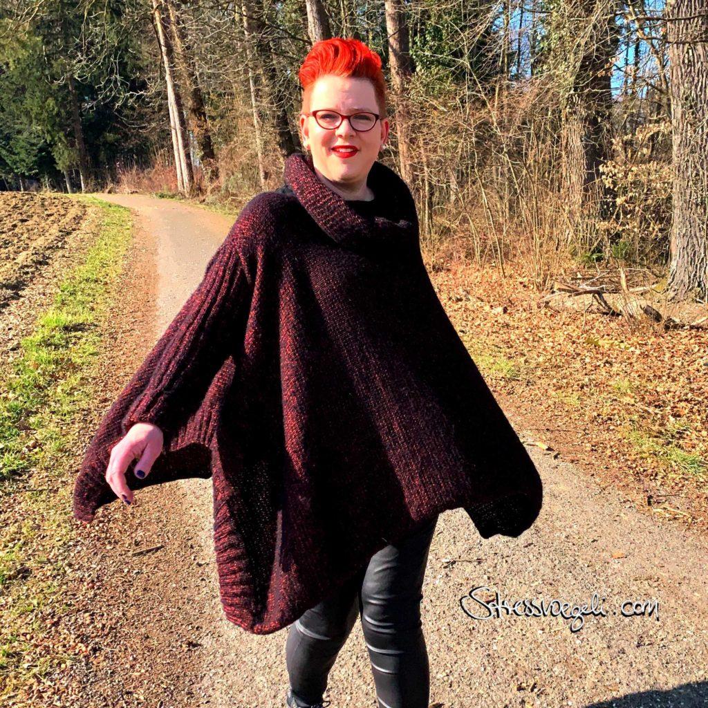 Pullover Bündchen auf Seite
